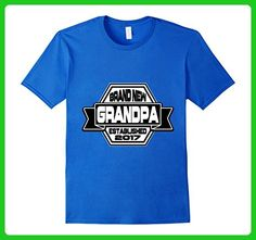Mens Funny Brand New Grandpa Established 2017 T-shirt XL Royal Blue - Relatives and family shirts (*Amazon Partner-Link)
