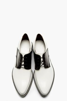 ACNE STUDIOS Black & White Lark Mix Saddle Shoes Acne Studios, Acne, fashion, minimal, minimalist, shoes