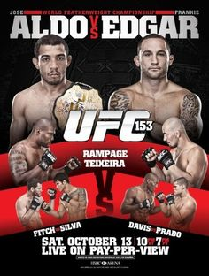 Check out UFC 153 POSTER.... Is this fight still happening?