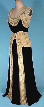 1930s evening dress.