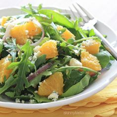 Orange and Arugula Salad with Red Onion and Gorgonzola