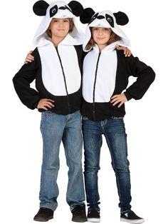Look what I found on Black & White Parker the Panda Zip-Up Hoodie - Kids by RG Costumes Panda Costume Diy, Costume Garçon, Panda Costumes, Halloween Costume Puns, Halloween Sweatshirt, Boy Costumes, Pirate Costumes, Funny Halloween, Adult Costumes