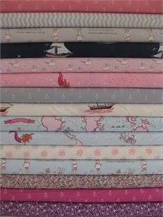 Sarah Jane, Out To Sea, Pirate Girls in FAT QUARTERS, 14 Total