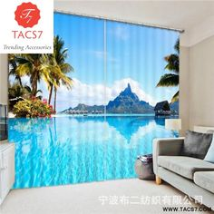 Cartoon Castle 3d Painting Blackout Curtains Office Bedding Room Living Room Sunshade Window Bedding Set Custom-made Size Curtains Home & Garden