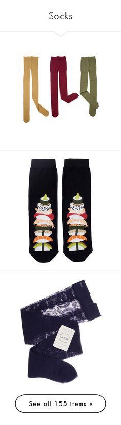 """Socks"" by bubblegumbae ❤ liked on Polyvore featuring intimates, hosiery, tights, socks, accessories, socks and tights, sally scott, footwear, clothing - socks and socks & tights"
