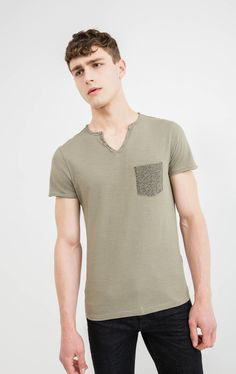 Printed T-shirt in 100% cotton with pocket | OVS