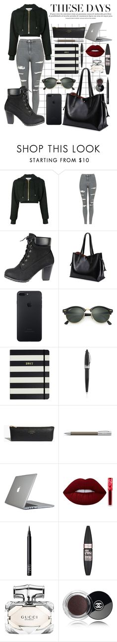 """Untitled #230"" by catarinaferreira-cf ❤ liked on Polyvore featuring Moschino, Topshop, Ray-Ban, Kate Spade, Pineider, Madewell, Faber-Castell, Speck, Lime Crime and NARS Cosmetics"