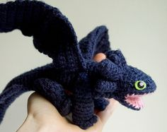 Dragon Toothless CROCHET PATTERN / Toothless amigurumi pattern / tutorial for  Night Fury from HTTYD / baby dragon crochet toy pattern