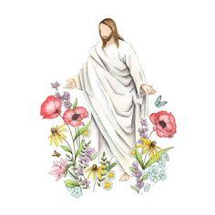 Arte Lds, Pictures Of Jesus Christ, Jesus Christ Lds, Easter Pictures Of Jesus, Easter Paintings, Christmas Paintings, Easter Drawings, Jesus Art, Jesus Christ Drawing