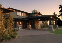 """Porte Cochere. I love these and am glad someone finally did an article about them. I have always wanted a """"drive through"""" carport for guests and unloading babies, packages, etc.There are several examples.featured... .traditional exterior by HartmanBaldwin Design/Build"""