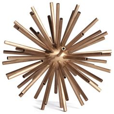 Hollywood Regency Brass Designer Starburst Sculpture - M - transitional - Decorative Objects And Figurines - Kathy Kuo Home