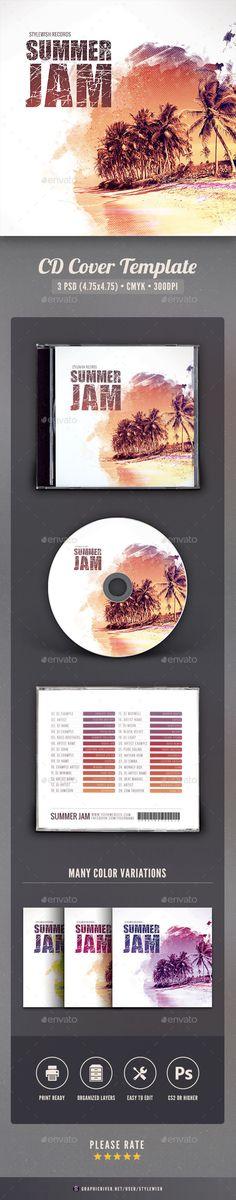 Summer Jam CD Cover Artwork — Photoshop PSD #lounge #live • Download ➝ https://graphicriver.net/item/summer-jam-cd-cover-artwork/19429462?ref=pxcr