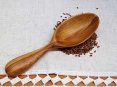 Hand carved wooden scoop,wood spoon,carved wooden spoon,wooden kitchen utensils,wooden spoons,scoop for grain,flour scoop,chef's gift,foodie