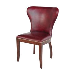 "Richmond Dining Chair  Top Grain  26"" W x 23"" D x 37"" H  Finish/Color(s): Library Red"