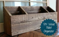 DIY Wood Desk Organizer/Mail Sorter