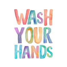 "Courtside Market ""wash Your Hands"" Wall Decal Multi"