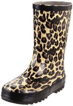 Nomad Puddles II Rain Boot (Toddler/Little Kid/Big Kid),Tan Leopard,9 M US Toddler. Rubber upper. Water resistant boots. Two patterns available. Perfect for those puddles.
