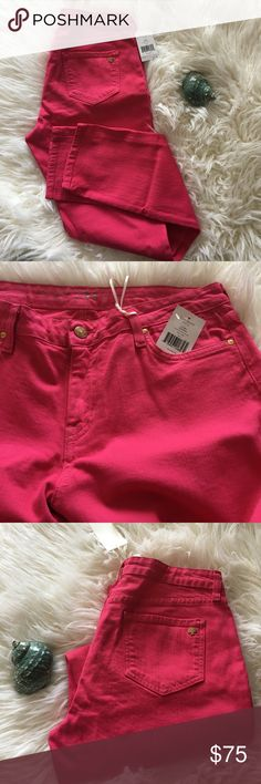 NEW Kate Spade Pink Jeans Size 31 NEW Kate Spade City Lights Bromme Street Denim in pink. Jeans have original tags attached to them. Perfect for Spring and Summer. kate spade Pants Straight Leg