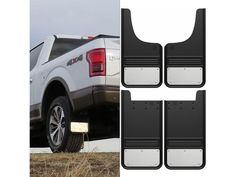 Ford F Stainless Steel Mud Flap Set Included Front And Rear Pairs