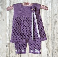 Baby Top with Shorts Tunic and Shorts Crochet by CrochetMonkie