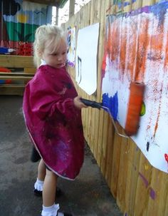 "Painting outdoors with rollers ("",)"