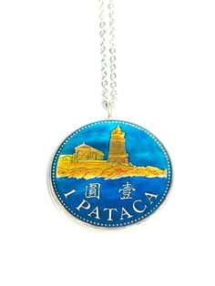 Coin Pendant, Pendant Necklace, Lighthouse, Temple, Jewelry Box, Coins, Cufflinks, Stainless Steel, Free Shipping