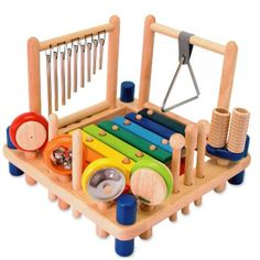 I'm Toy - Melody Mix Music Set Great for experiencing all sorts of instruments and their sounds - love how it is all housed in one unit for easy storage! #Entropywishlist #pintowin