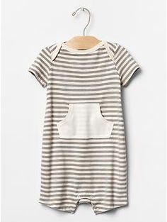 Organic stripe pocket one-piece | Gap