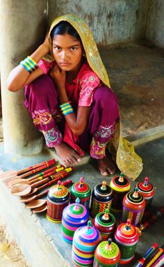 Wood turning and lacquerwork for sale in Kutch, India - We Are The World, People Of The World, Rann Of Kutch, Amazing India, Rural India, India And Pakistan, India Asia, Indian Village, India Culture