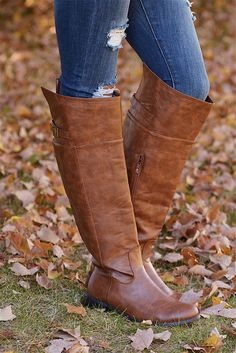 Cognac Rider Boots from Closet Candy Boutique #fashion #shop