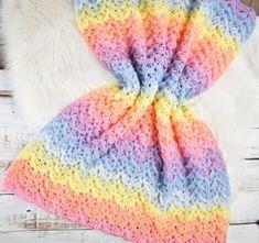 Basic Crochet Stitches, Crochet Hook Sizes, Crochet Basics, Beginner Crochet, Chevron Blanket, Easy Crochet Blanket, Crochet Blankets, Crochet Afghans, Baby Afghans