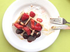 Waffle do L'Alberge Montevideo 2015