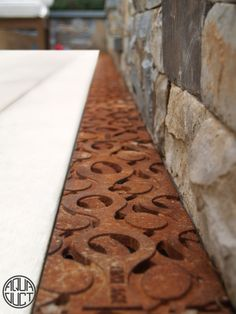 outdoor space - Landscape drains in iron