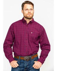 f668d7014 Ariat Mens Dunn Purple Dahlia Print Long Sleeve Western Shirt ...
