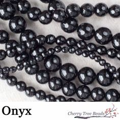 Onyx is a banded variety of the oxide mineral chalcedony. It has a long history of use for hardstone carving and jewelry, where it is usually cut as a cabochon, or into beads (our favorite). Metaphysically, onyx can help release negative emotions, such as sorrow and grief. It can also be worn to defend against negative energy that is directed toward you. It fortifies self-confidence and responsibility, sharpens your senses, and encourages a healthy egotism.