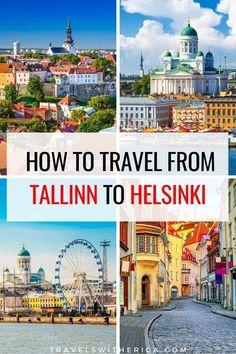 Whether you're taking a day trip from Tallinn to Helsinki or spending a few days in Finland, it is important to know the best way to travel from Tallinn to Helsinki. Click through to read the ultimate guide on travelling to Helsinki from Tallinn including time saving tips, how to have a comfortable trip, and sneaky ways to save a bit of money. It is your one-stop guide on how to travel from Tallinn to Helsinki and is a must-read for anybody travelling between the two c via @Travels with Erica Europe Travel Guide, Iceland Travel, Travel Destinations, Places In Europe, Travel Articles, Travel Light, Beautiful Places To Visit, Best Cities, Travel Inspiration