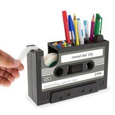 Retro Cassette Tape Stationery Holder