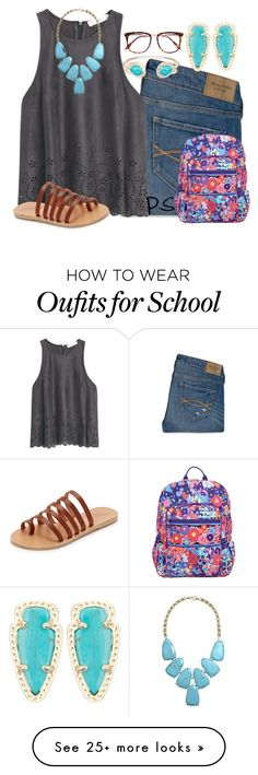 """""""school post spring break"""" by prep-society on Polyvore featuring Abercrombie & Fitch, MANGO, Victoria Beckham, Ancient Greek Sandals, Vera Bradley and Kendra Scott"""
