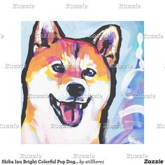 Shiba Inu Bright Colorful Pop Dog Art Follow the link to see this product on Zazzle! @zazzle #dog #dogs #dogstuff #dogpin #pet #pets #animals #animal #fun #buy #shop #shopping #sale #gift #dogowner #dogmom #dogdad #home #decor #homedecor #interiordesign #design #apartment #interior #artprint #art #funny #lol #cute