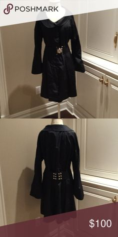 Bergdorf Goodman  XL black Raincoat Purchased from Bergdorf Goodman. Never worn. Salona Jackets & Coats