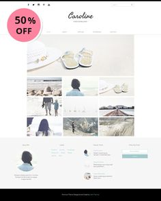 COUPON PROMO 2 templates for $14. Use coupon code VC100 at checkout  Photography Premade blogger template with modern and minimalist design. Perfect for Photographer, Illustrator, Portofolio Blog, Lifestyle Blogger, Food Blogger, and Fashion Blogger.  This template have many features, customizable, and responsive. It will look great on mobile device and easy to customize.  See Live Demo: http://caroline-demo.blogspot.com  ___________________________________________________________  ...