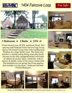 Prime location just off JFK and Kierre Road. Spacious split bedroom plan with multiple living and dining areas. Living room, 1 Bedroom and 1 bath bonus space located in the detached garage. Large Family Rooms, Little Rock, Detached Garage, Formal Living Rooms, Jfk, Dining Area, Shed, Real Estate, Outdoor Structures