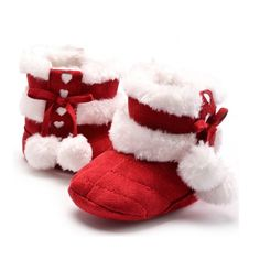 Always Pretty Baby Boys Girls Soft Crib Shoes Warm Fleece Boots Prewalker Shoes Red 11cm For 0~6 Months. Cotton,Soft material makes your baby's foot warm and comfortable. NOTE :For SIZE, please measure baby's feet to match the shoes's sole length, the age is just for reference. makes for easy on and off, but boots stay secure. unisex baby winter snow boots, perfect addition to your baby's outfits. we will ship item within 3 days after we receive your orders,and the standard shipment…