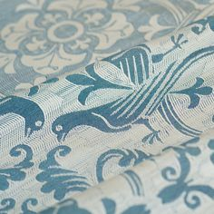 Love Birds Sargasso Sea - Pavo Textiles - Heirloom Quality Babywearing Woven Wraps Made in USA