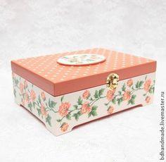 """Caixas artesanais. Mestres Fair - handmade. Compre Stash """"Nicole"""". Handmade. Auburn, para meninas, Box"""