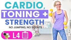 35 Minute Low Impact Cardio, Toning + Strength Workout is part of Low impact cardio - This Thorough Thursday workout includes CARDIO, then CARDIO TONING, then fullon STRENGTH work for a terrific full body sculpt, burn and tone 5 Day Workouts, Workout Videos, Yoga Workouts, Workout Gear, Week Workout, Waist Workout, Dumbbell Workout, Workout Humor, Workout Routines