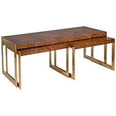 $1400 Dwell Studio Newell 3-Piece Nesting Cocktail Table Set