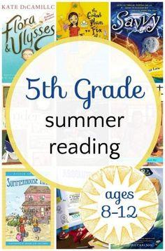 5th grade summer reading list. Middle grade fiction books.