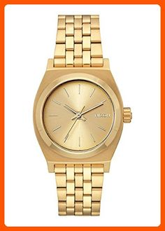 Nixon Women's 'Medium Time Teller' Quartz Metal and Stainless Steel Watch, Color:Gold-Toned (Model: A1130502-00) - All about women (*Amazon Partner-Link)