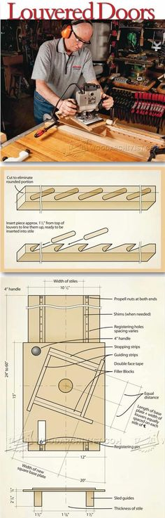 Making Louvered Doors - Woodworking Tips and Techniques | WoodArchivist.com